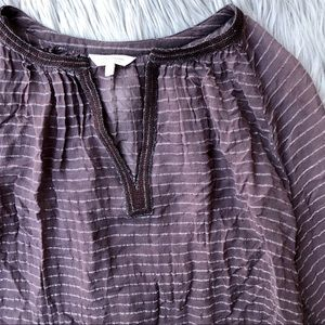 Lucky Brand / Sheer Plum Top